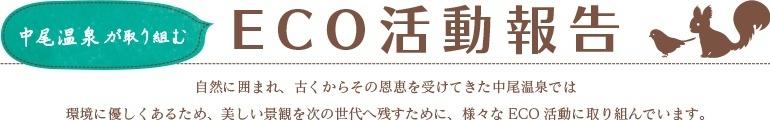 中尾高原のエコ活動報告