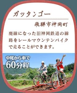 ガッタンゴー 飛騨市神岡町