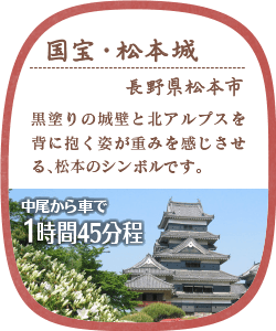国宝・松本城 長野県松本町